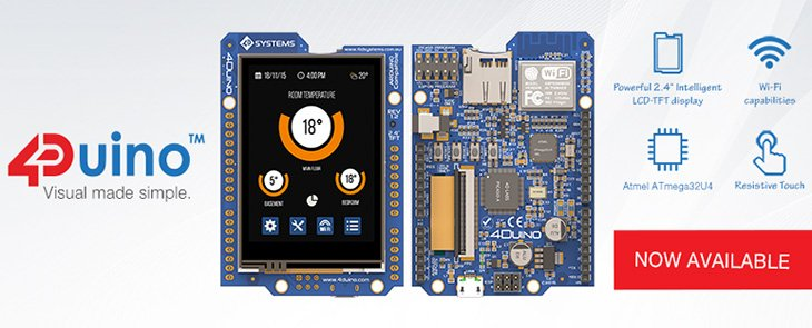 4Duino – okamžitě použitelný Arduino modul s displejem