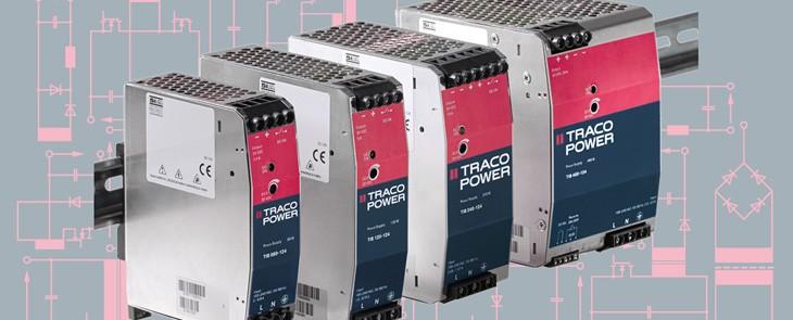 Robustní a spolehlivé AC/DC měniče na DIN lištu od Traco Power