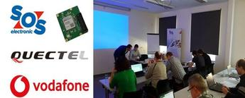 SOS electronic NB-IoT workshop ve spolupráci s Vodafone CZ a Quectel Wireless Solution